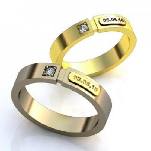 Обручальные кольца Ваша дата