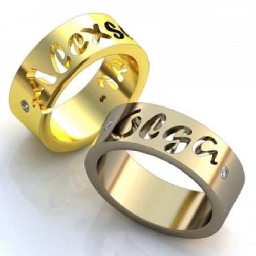 Обручальное кольцо Имена